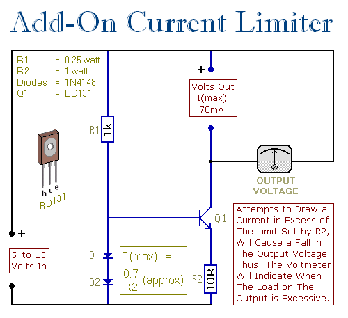 Schematic Of The Basic Current Limiter