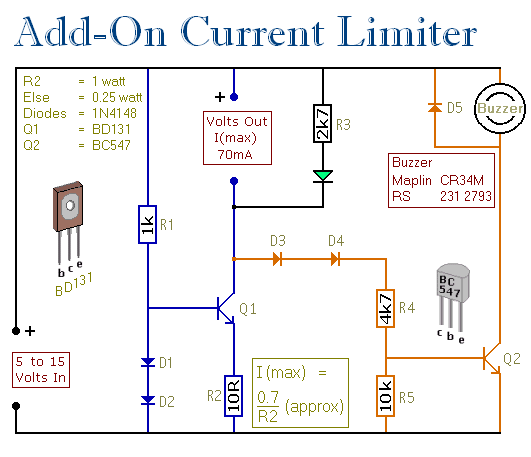 Current Limiter With Audible Warning