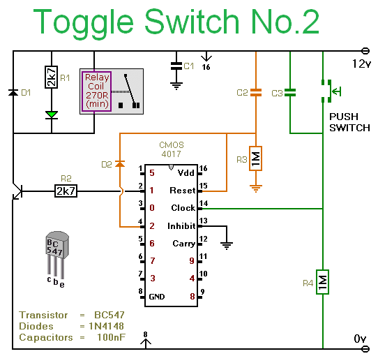a simple electronic toggle switch construction guide
