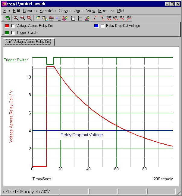 Simulation Graph For  Motorcycle Alarm No.4