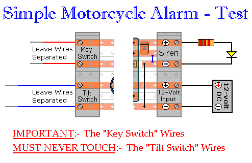 Details of How to Prepare The Motorcycle Alarm For Testing
