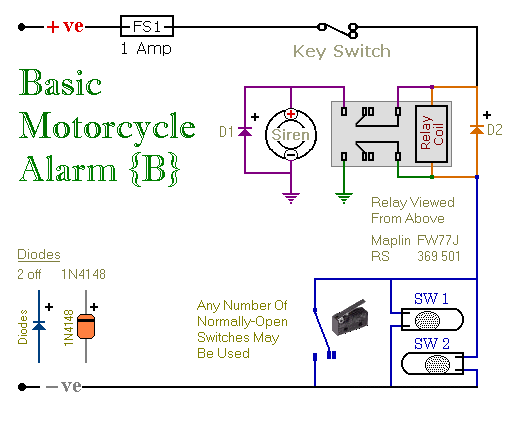 Relay-Alarm No.6 - Schematic Diagram