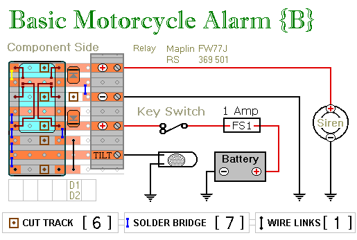 Relay-Alarm No.6 - Veroboard Layout