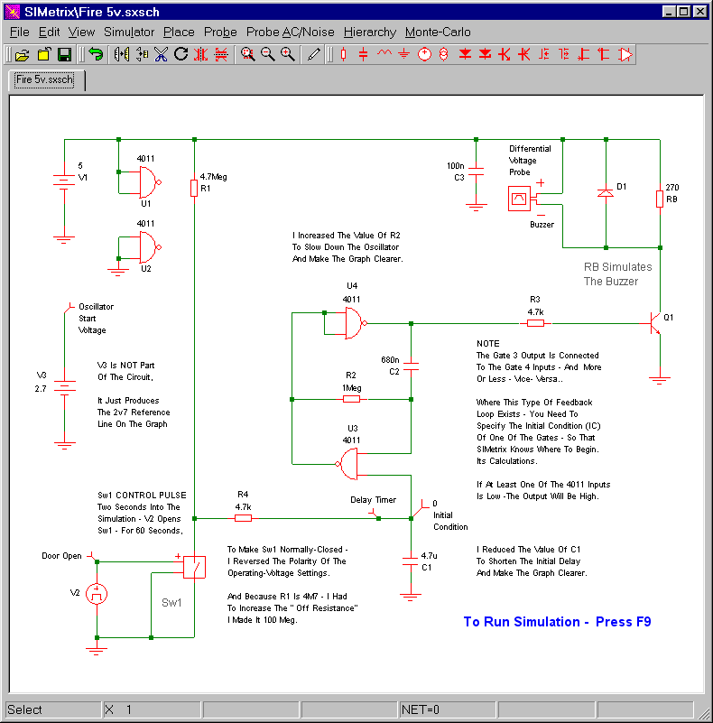 Fire-Door Alarm Simulator Screenshot
