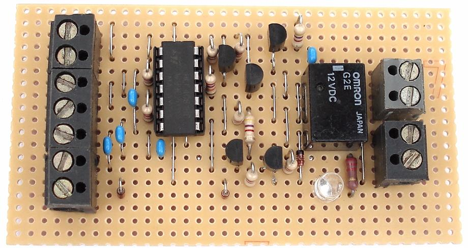 A Photograph Of Ron J's  Enhanced 4-Digit Alarm  Keypad - Circuit Board