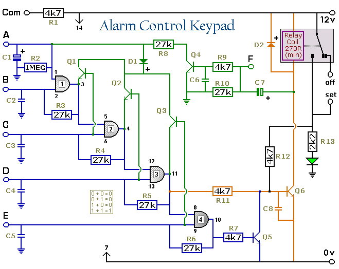 Circuit Diagram For An Alarm Control Keypad