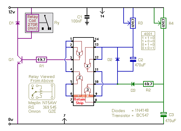 Schematic Diagram Of A  Regularly Re-triggering  Interval-Timer